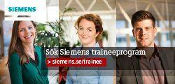 Siemens AB - Siemens AB - Traineeprogram för civilingenjörer och civilekonomer